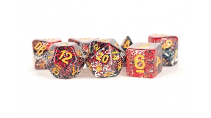 7 dés polyhédriques - Metallic Dice Games Particle