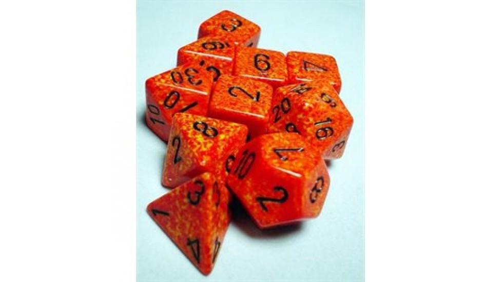 10 dés polyhédriques - Koplow Games Speckled