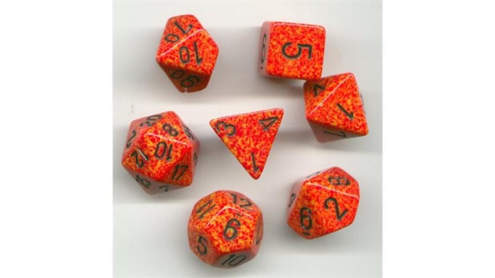 7 dés polyhédriques - Koplow Games Speckled