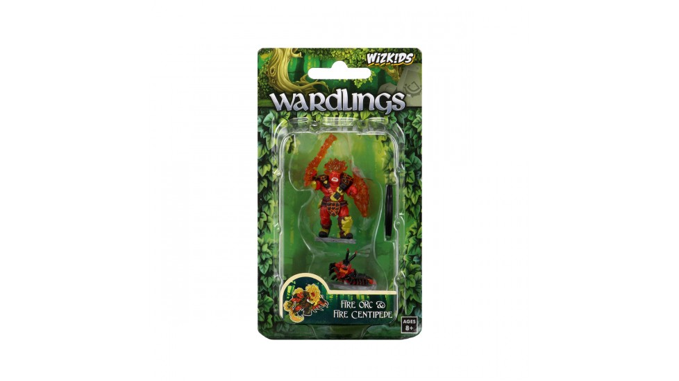 Wardlings RPG Figure Painted : Fire Orc AND Fire Centipede