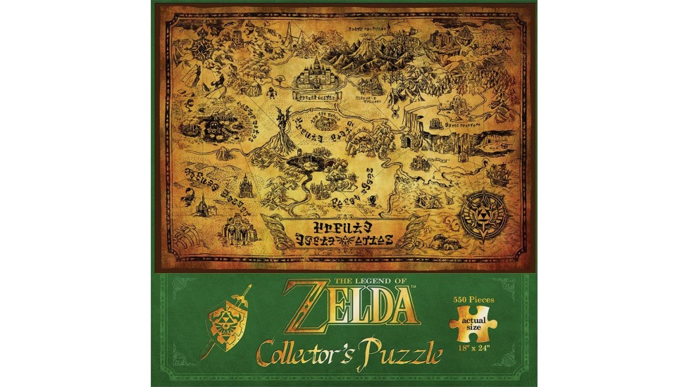 Puzzle - 550 pc - The Legend of Zelda - Hyrule Map